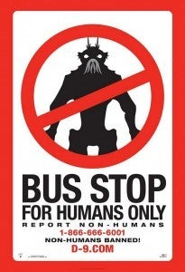 District 9 Bus Ad