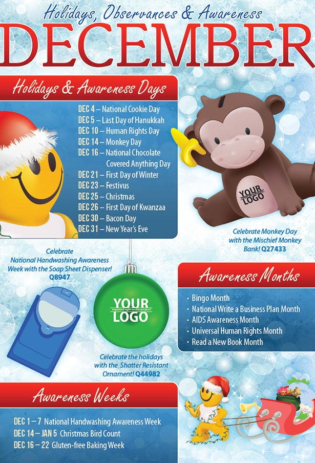 December 2013 Holidays, Observances, and Awareness Dates