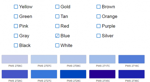 53bb6dc03 When using our online order form, you can enter your PMS Color into the  pop-up and it will automatically add the additional cost for your order.
