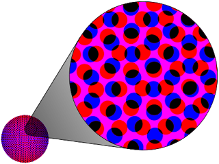 "An example of a ""Rosette"" dot pattern used for CMYK printing"