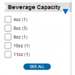 beverage capacity