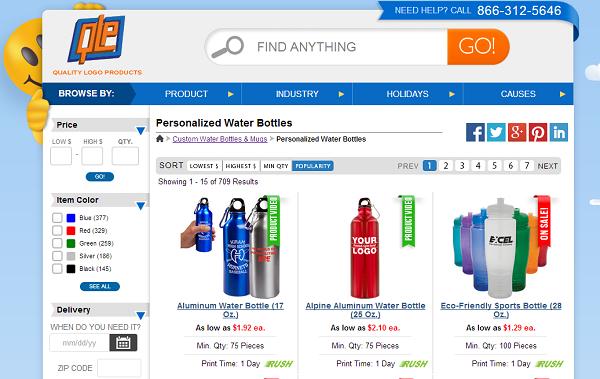 qlp water bottles