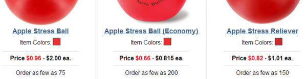 apple stress ball prices