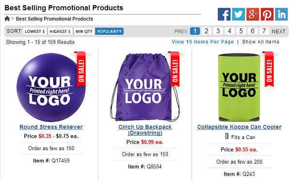 best selling promotional products