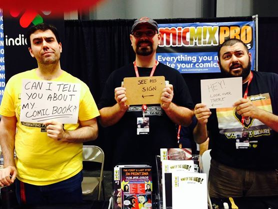 Too loud? Too crowded? That's no problem from the guys from Unshaven Comics.