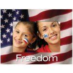 American Flag Paper Easel Frames