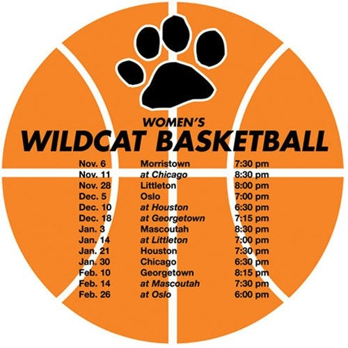 Basketball Schedule Magnet