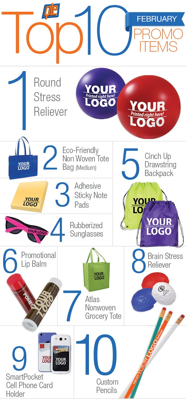 10 most popular promotional products of february 2015 for Best blog logos 2015