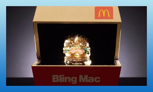 McDonald's Bling Mac ring