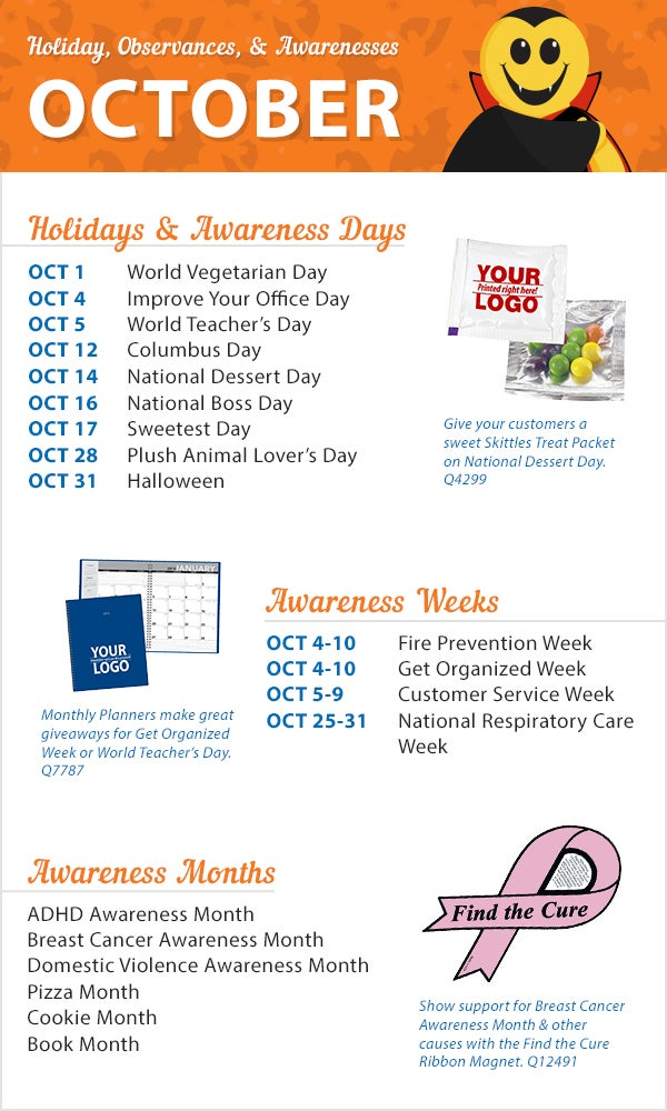 october 2015 holidays observances and awareness dates