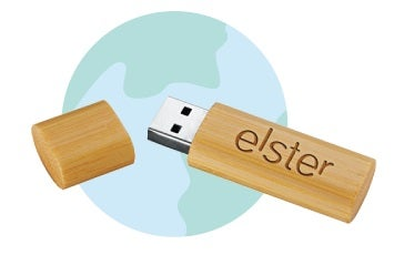 Bamboo Flash Drives for Earth Day - QLP