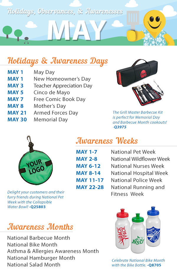 May 2016 Holidays, Observances, and Awareness Dates