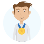Person with Medal