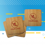 Quality Logo Products Bamboo Coaster