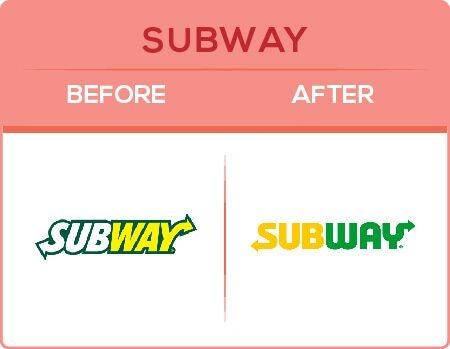 Subway Logo Change