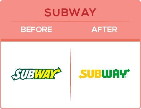 Subway Logo Change