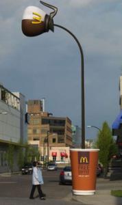 McDonald's Light Post Ad