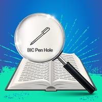 BIC pen hole