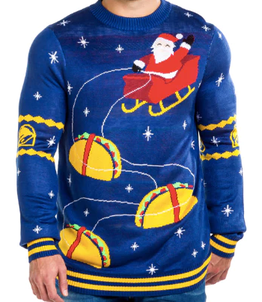 Taco Bell ugly Christmas sweater
