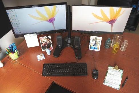 Aany's desk