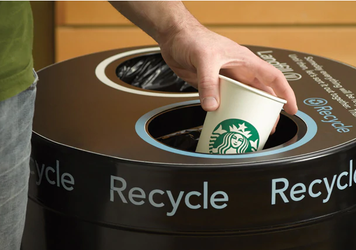 Recycle Starbucks cups