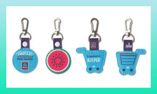 ALDI quarter keychain holder