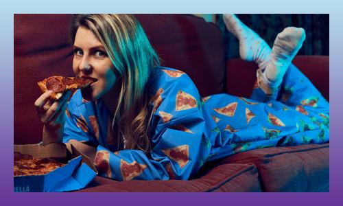 Domino's onesie pajamas