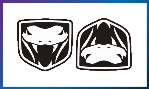 Upside down Dodge Viper logo