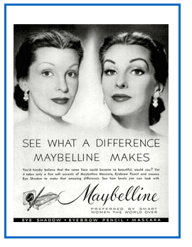 Maybelline before and after ad