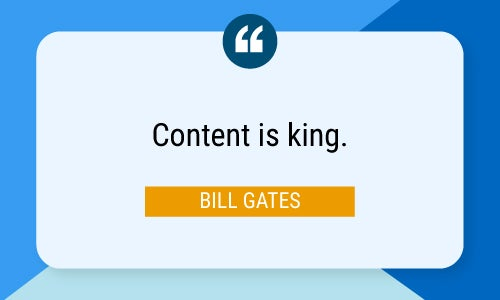 Bill Gates quote about content