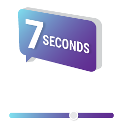 7 seconds graphic
