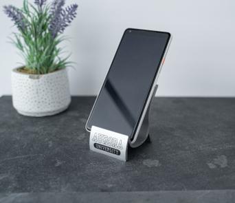 Aurora University phone stand