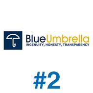 Blue umbrella design #2
