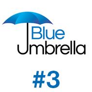 Blue umbrella design #3