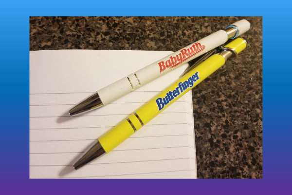 Baby Ruth and Butterfinger pens