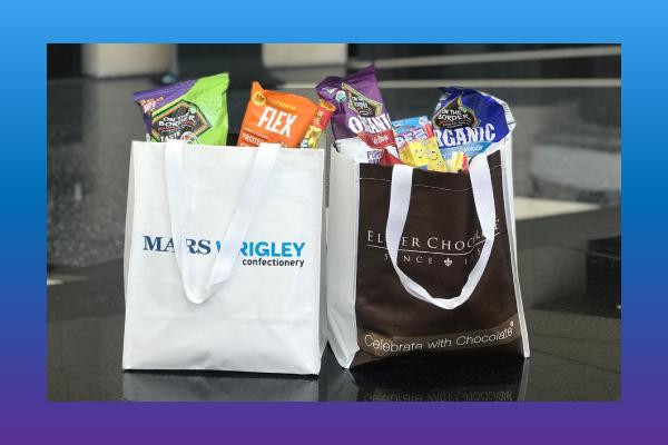 sweet & snacks expo tote bags