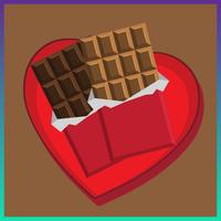Heart chocolate graphic