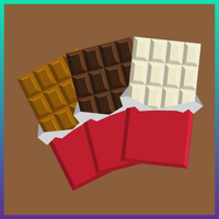 milk, dark, and white chocolate graphic