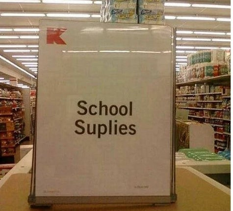 Kmart school suplies