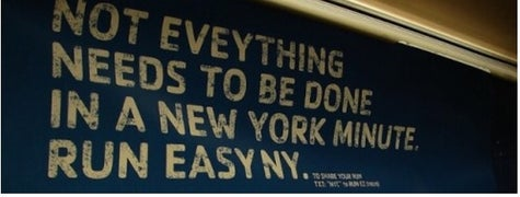 Not Eveything needs to be done in a new york minute reebok