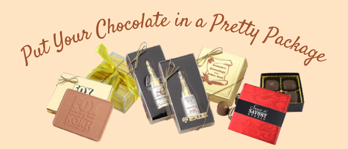 Chocolate in a pretty package graphic