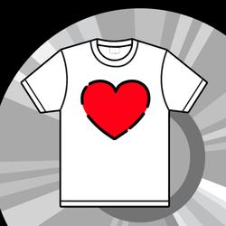 Heart t-shirt graphic