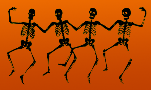 skeleton graphic