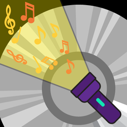 musical flashlight graphic