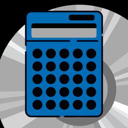 pocket calculator graphic