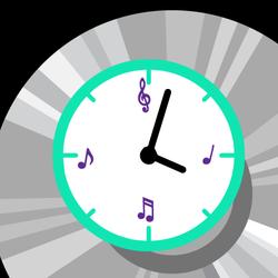 Rock around the clock graphic