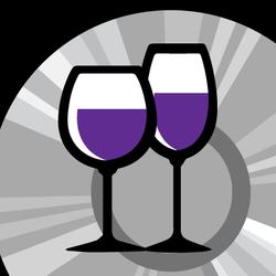 Wine glass graphic