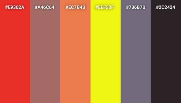 Cars color scheme