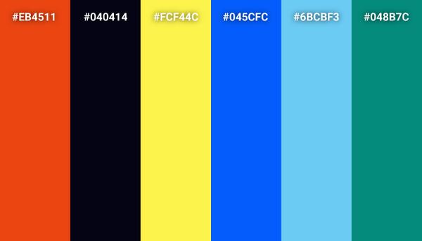 Finding Nemo color scheme