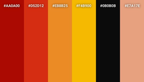 The Incredibles color scheme